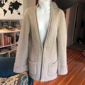 TRINA TURK | Bell Sleeve Metallic Sweater - Medium